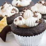 Whiskey Chocolate French Silk Pie filled Cupcake