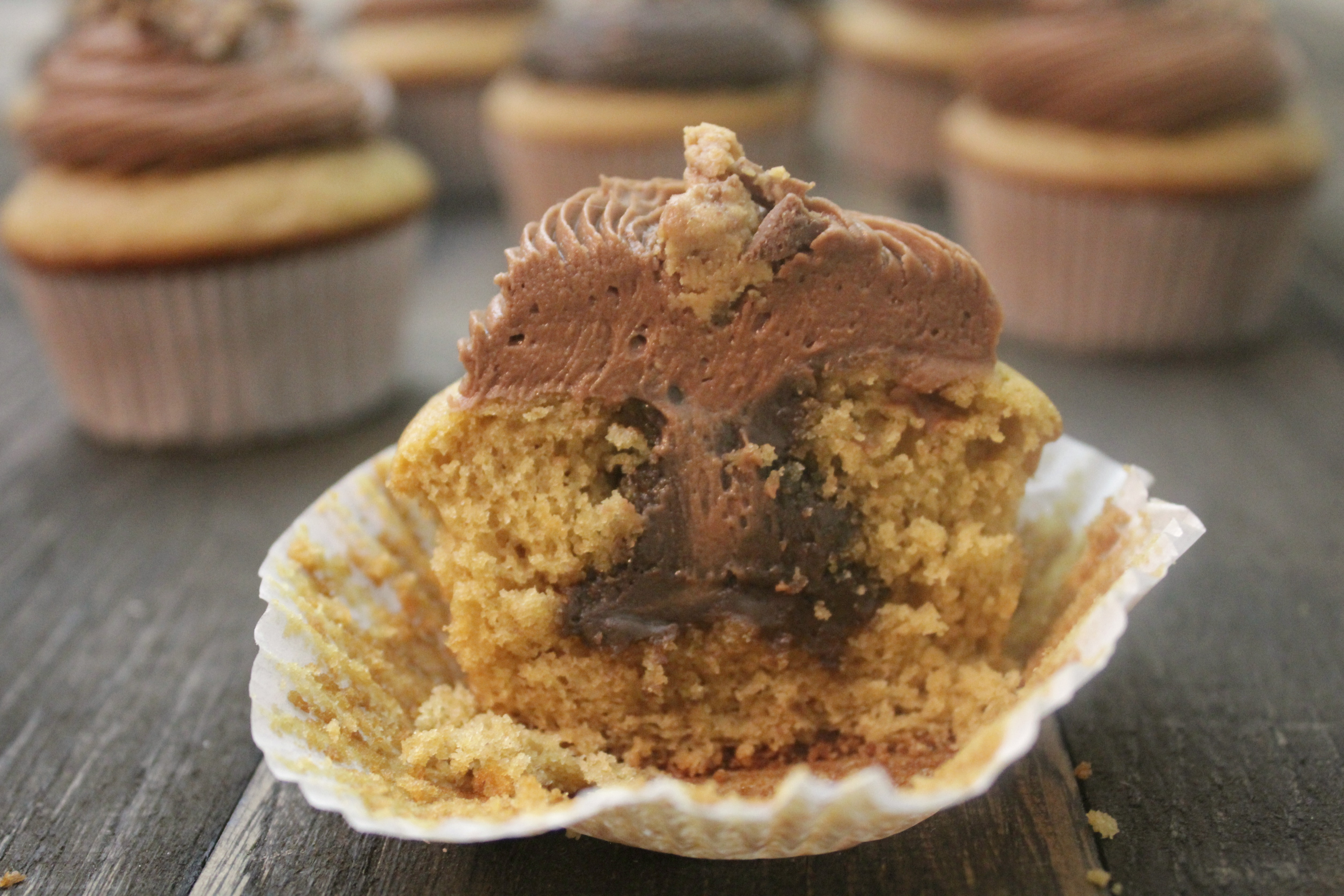 Peanut butter cupcakes like you've never had them!