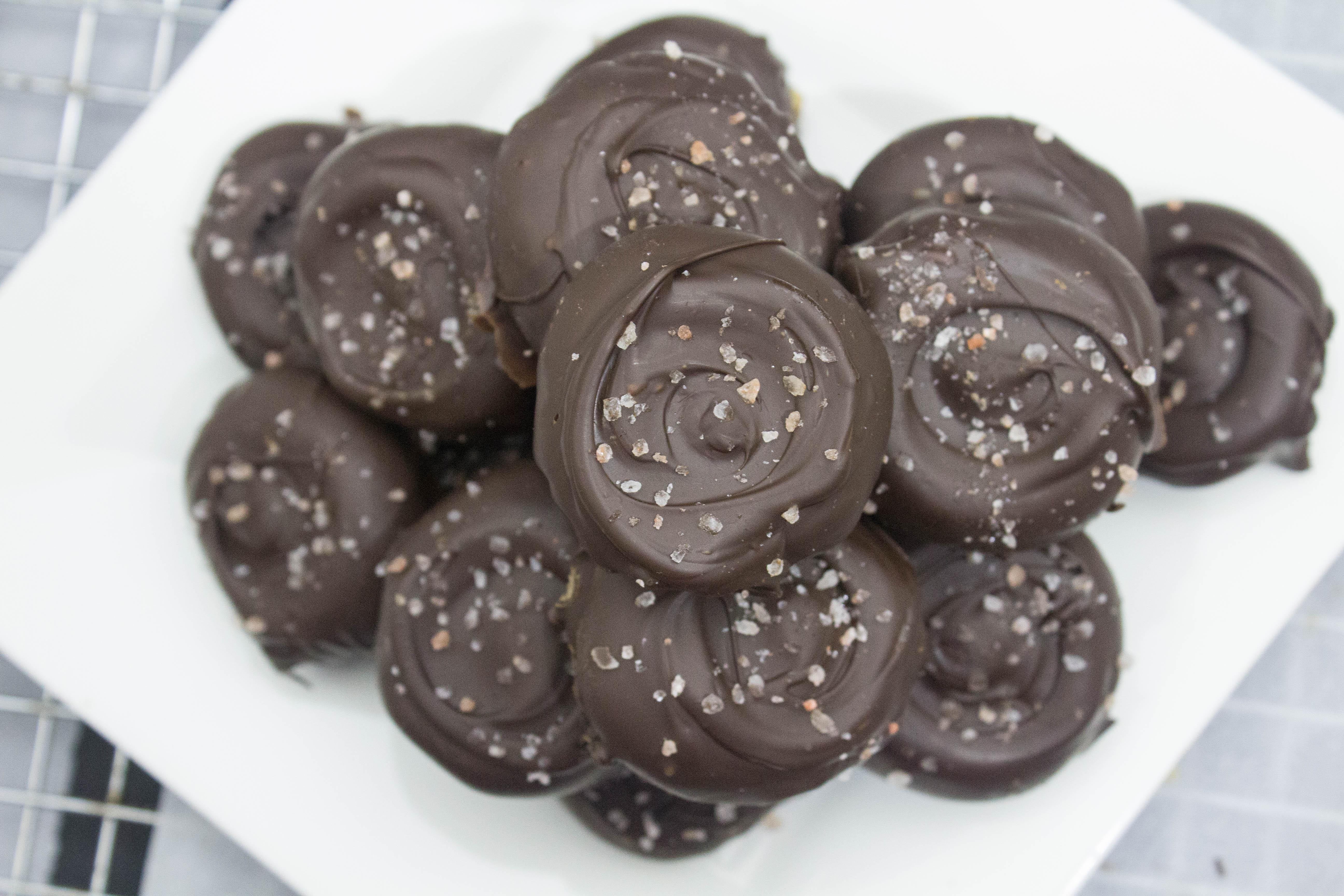 Salted Dark Chocolate Peanut Butter Patties