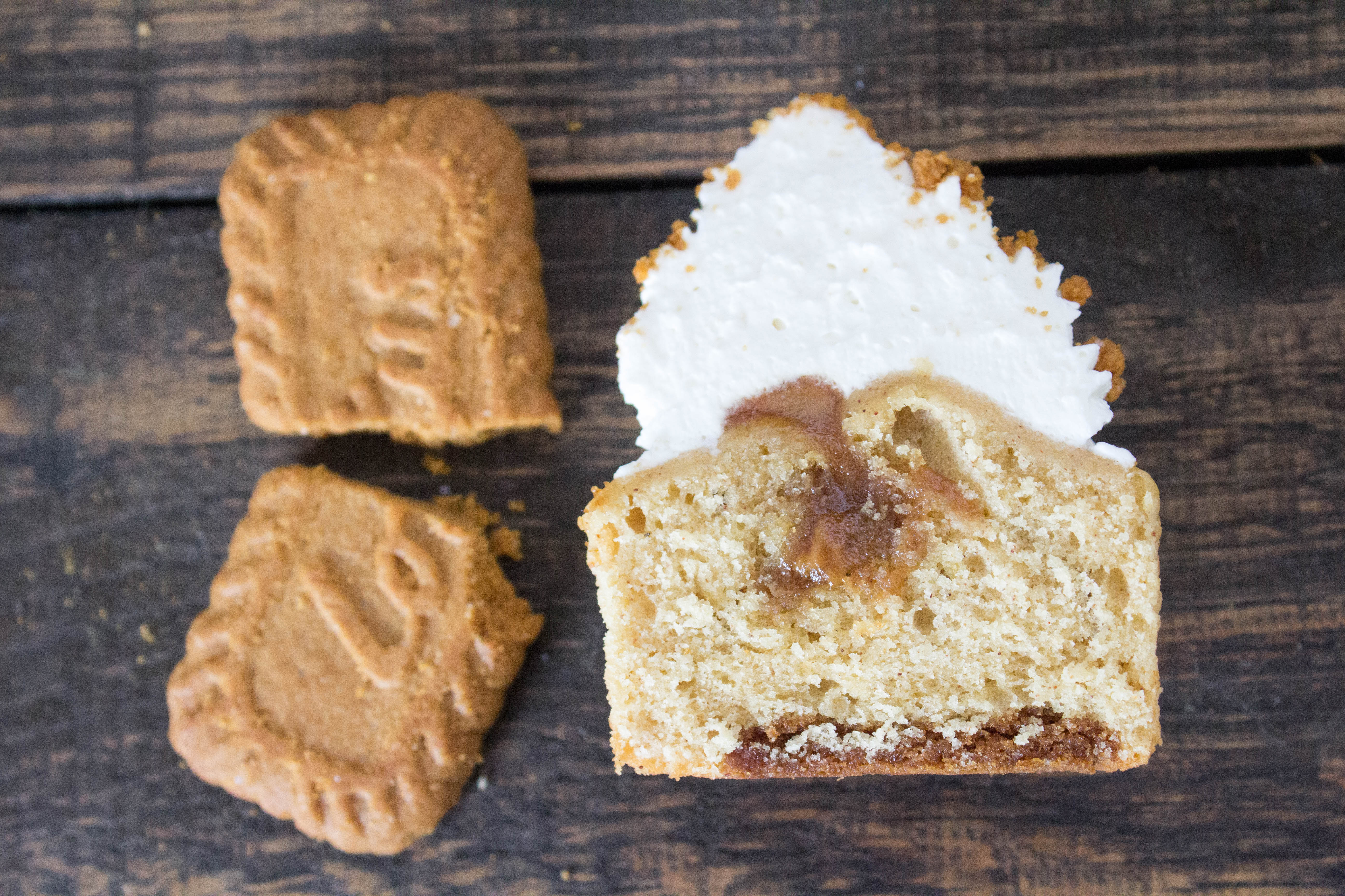 Best Ever Biscoff Cookie Butter Cupcakes