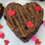 Cherry Chocolate Valentine Heart Brownies