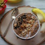Espresso, Peanut Butter & Chocolate Low Sugar Smoothie Bowl