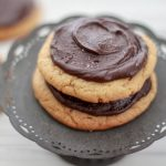 Chewy Peanut Butter Filled Cookies w/ Salted Chocolate Fudge Frosting