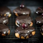 Bordeaux Cherry Filled Doughnuts with Chocolate Glaze