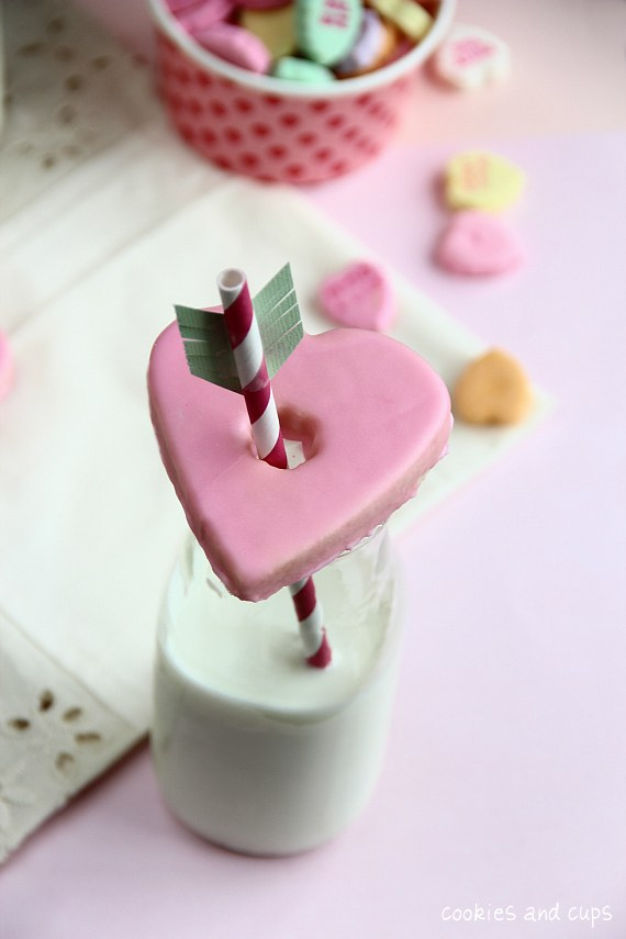 Glass Topper Valentine Cookies