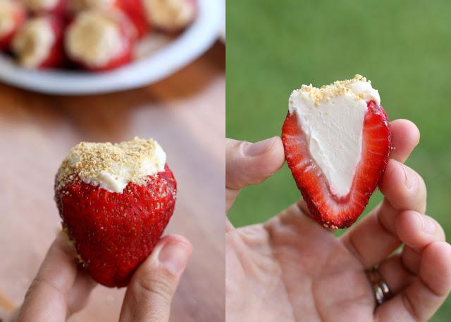 Cheesecake Stuffed Strawberries