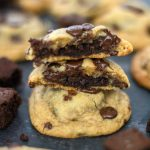 Brownie Stuffed Chocolate Chip Cookies