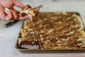 S'more Honey Cookie Squares