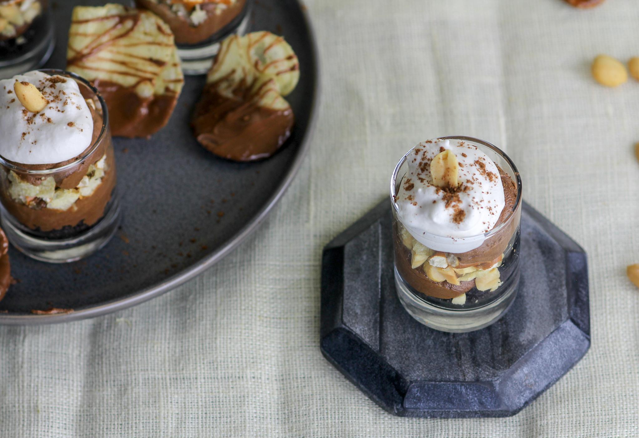 Sweet & Salty Chocolate French Silk Pie Dessert Shooters