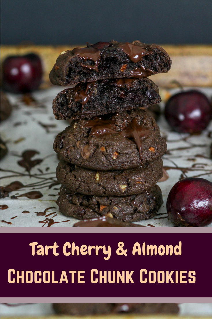 Tart Cherry and Almond Chocolate Cookies