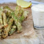 Crispy Fried Asparagus Spears with Garlic Aioli (Burgerville Copycat)