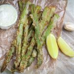 Crispy Fried Asparagus with Garlic Aioli (Burgerville copycat recipe)