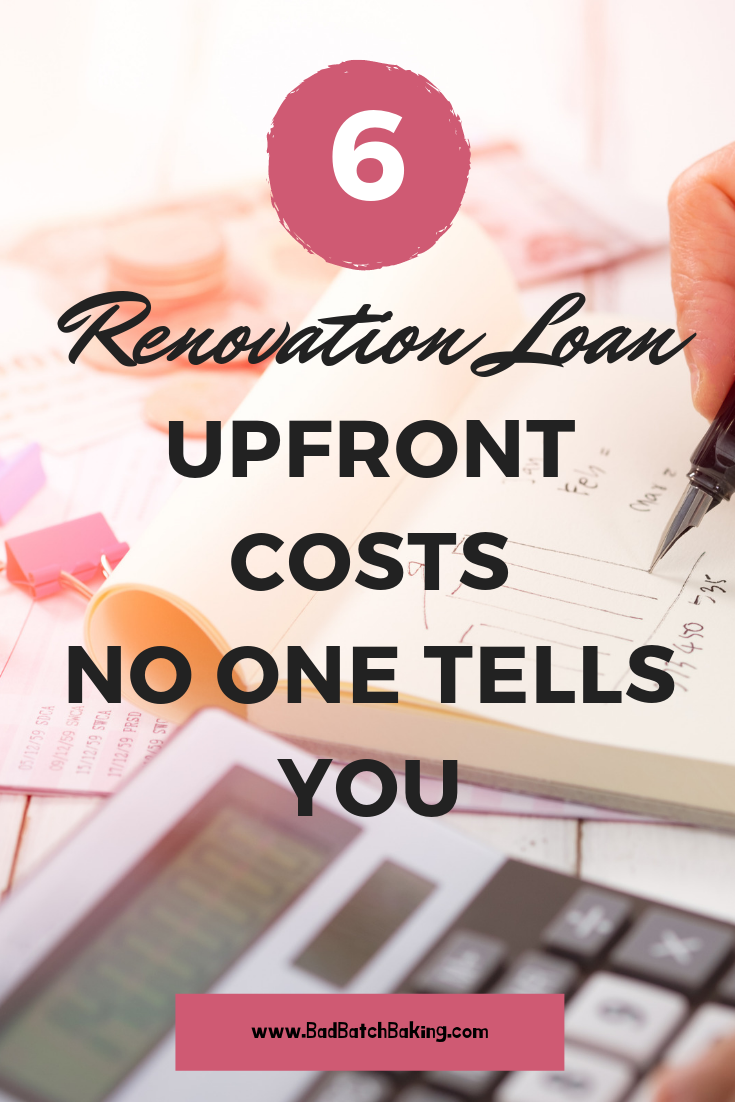 Upfront Costs for 203K Renovation Loan