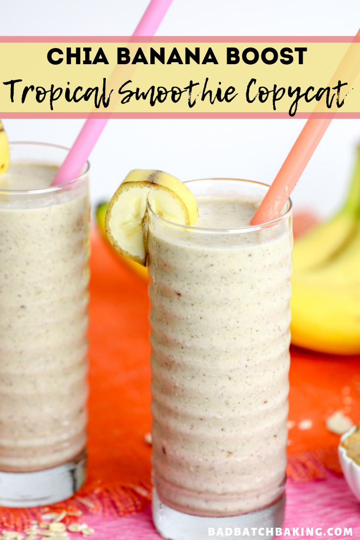 Chia Banana Boost Tropical Smoothie Recipe