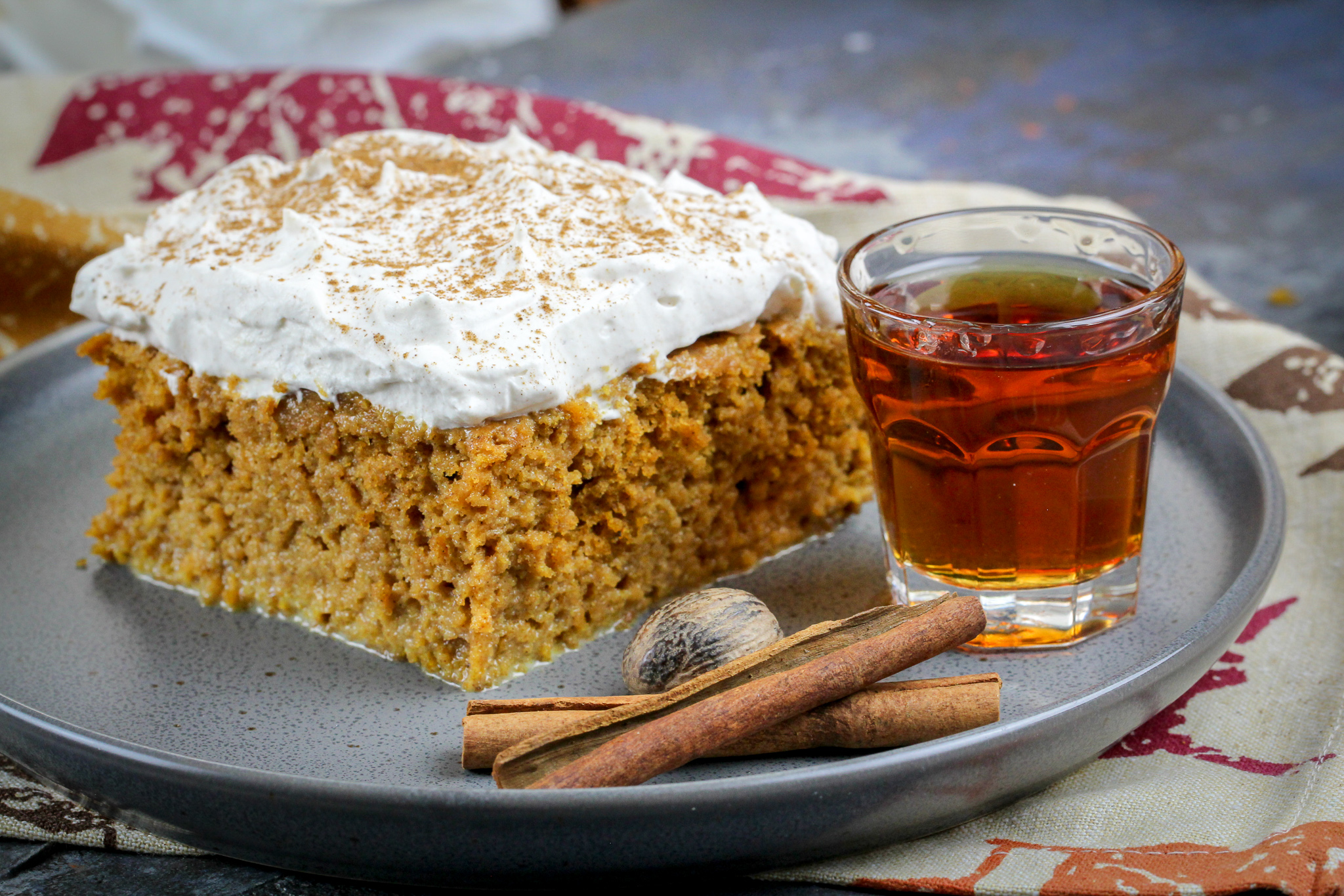 Pumpkin Spice Tres Leches with Amaretto