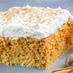 Pumpkin Spice Tres Leches Cake with Amaretto