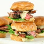 Rib-Eye Sliders with Garlic Parmesan Cream Sauce