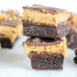 Four Layer Peanut Butter Brownie Bars