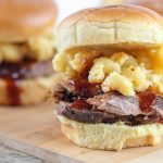 BBQ Sliders with Creamy Jalapeno Mac & Cheese