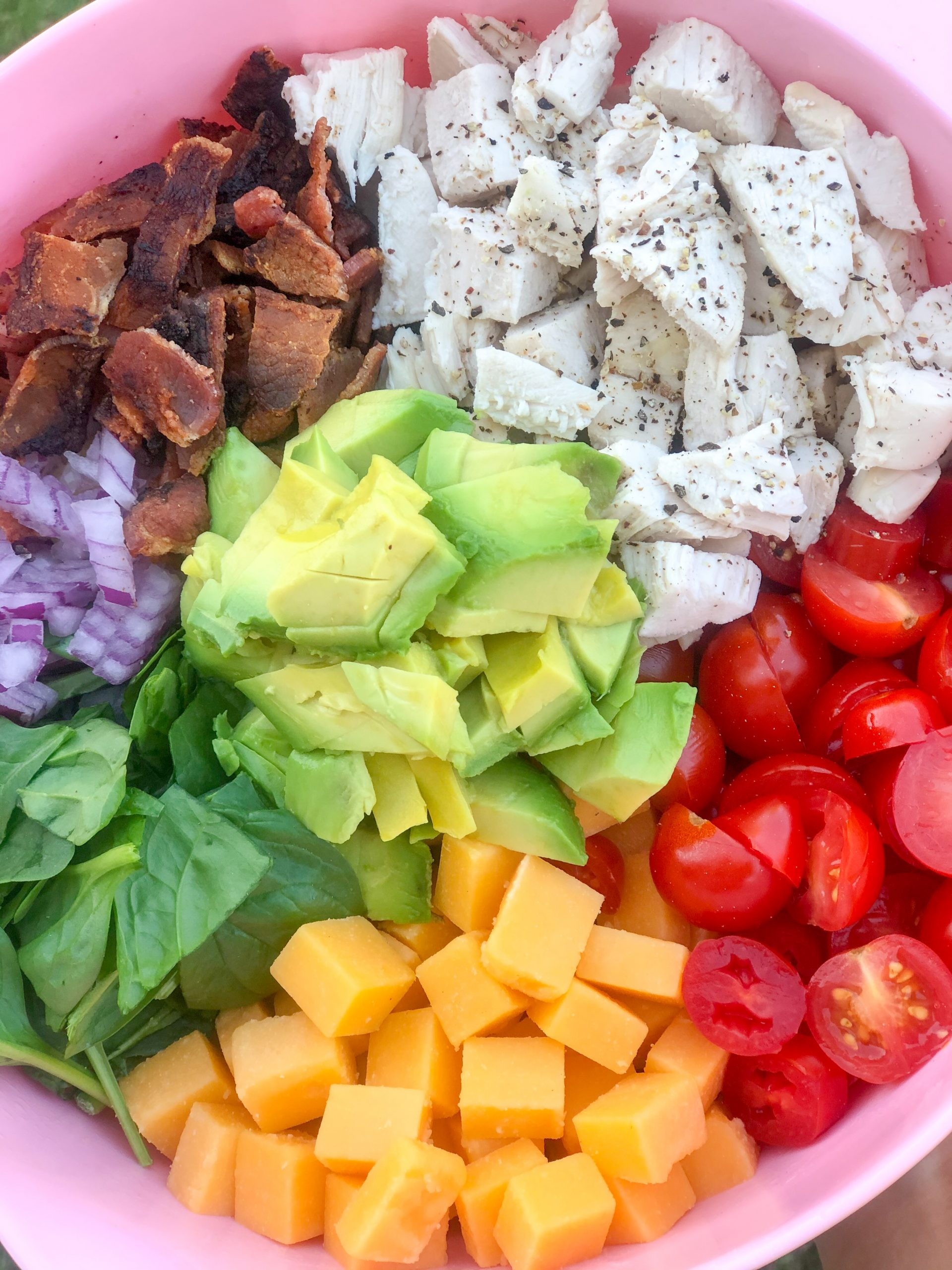 Chicken Avocado BLT Pasta Salad