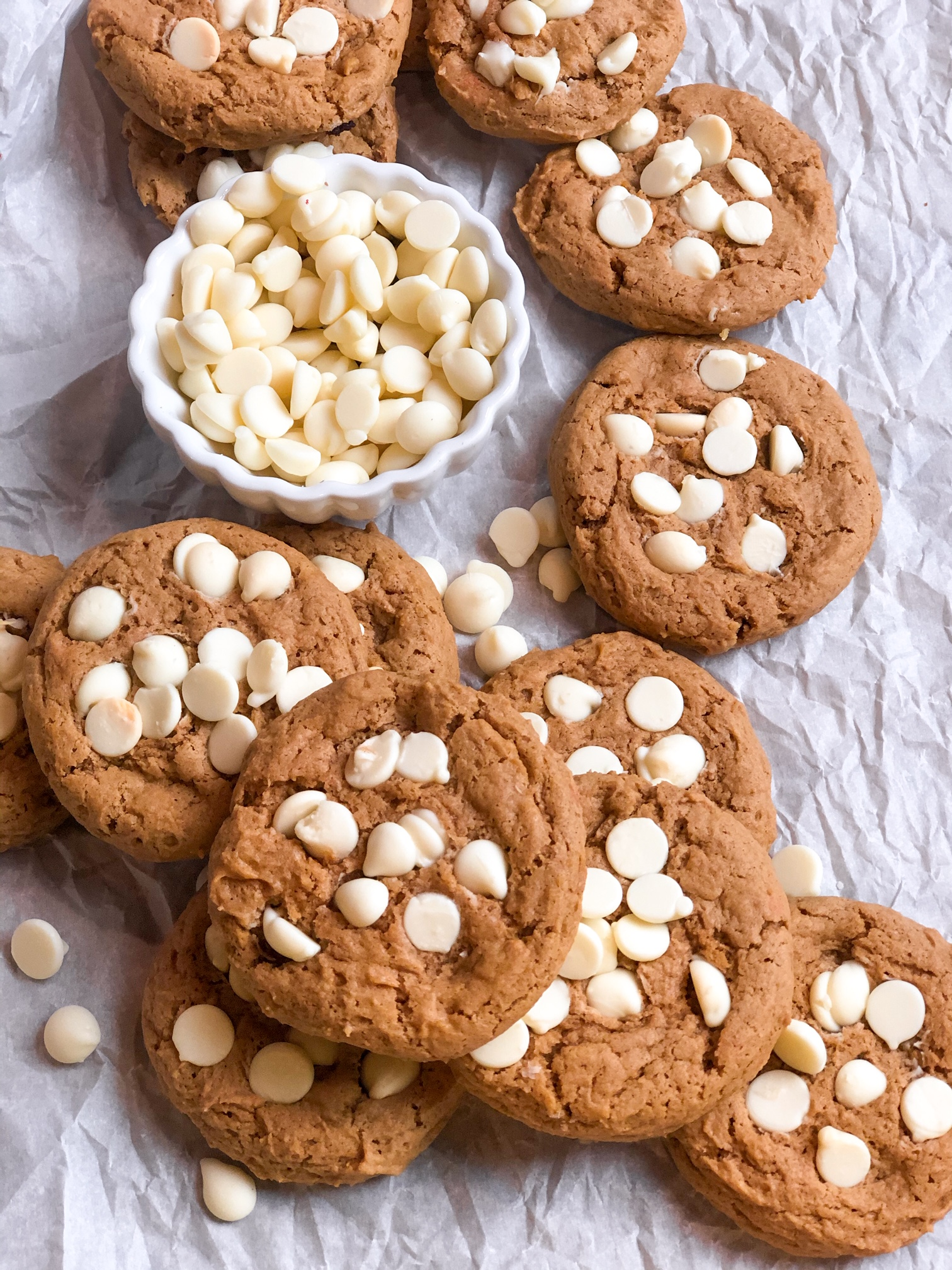 Soft-Batch Pumpkin White Chocolate Boxed Cake Cookies