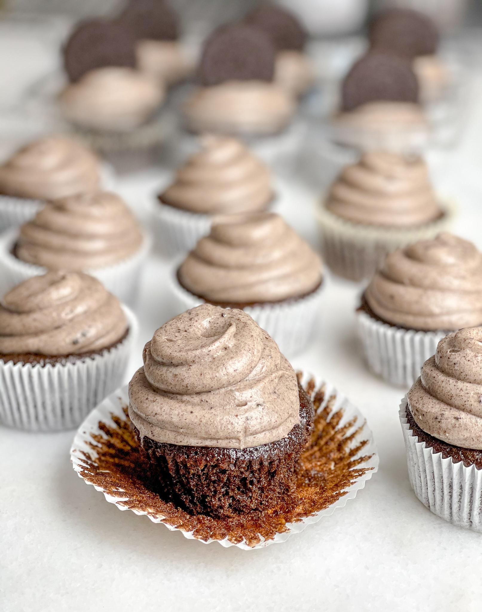 Triple Oreo Chocolate Cupcakes