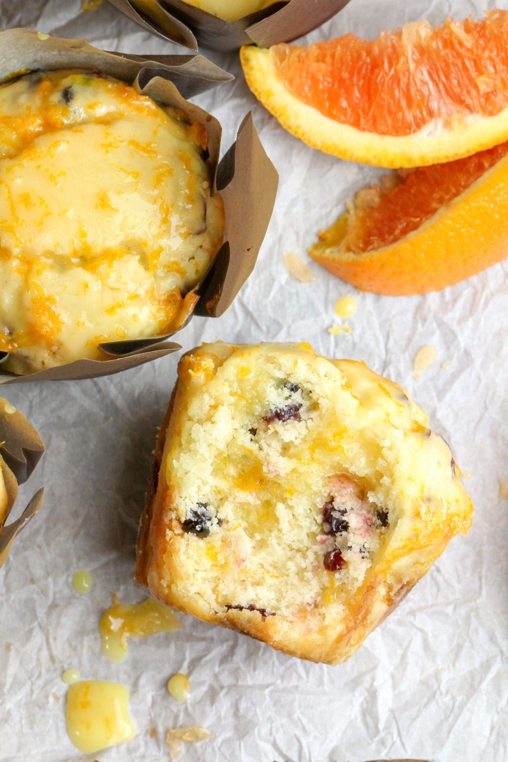 Zesty Buttery Orange Cranberry Muffins